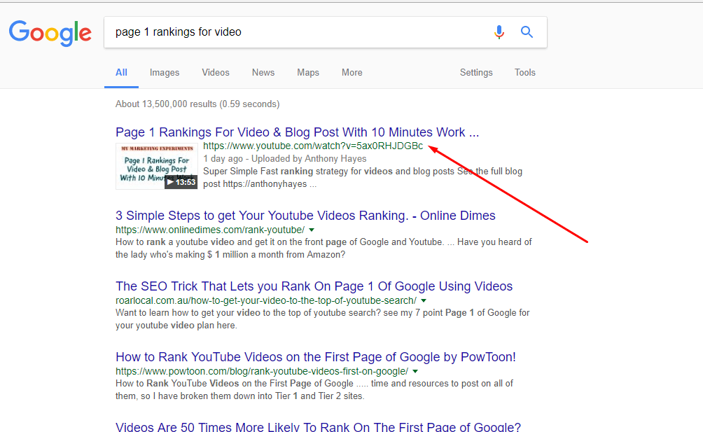 How to rank for competitive keywords example 2