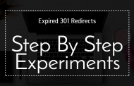 Step By Step Experiments (Part 2 of The Expired 301 Redirects  Course)