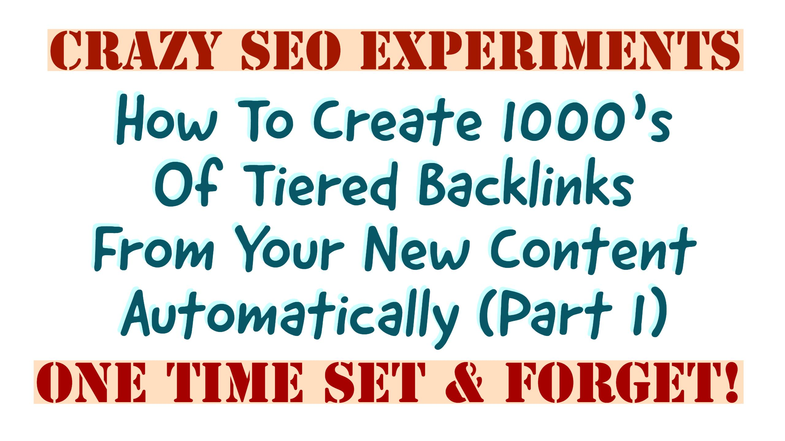 How To Automate 1000's Of Tiered Links With The Power Of RSS Feed SEO