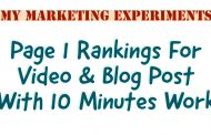 Simple Page 1 Ranking Strategy For Video & Blog Posts (10 Minutes Work)