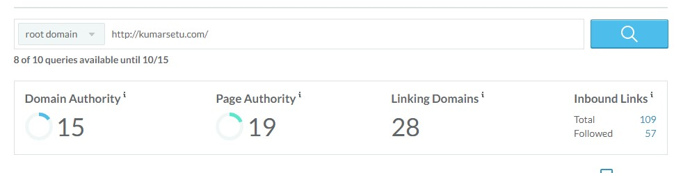 seo metrics from moz link explorer