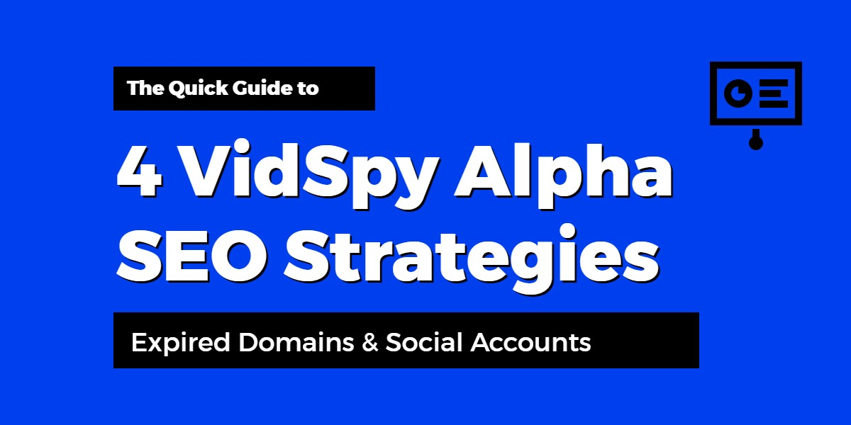 VidSpy Alpha Expired Domain And Social SEO Strategies
