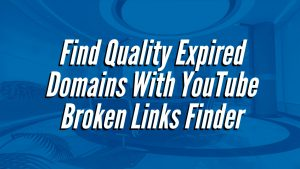 Find Quality Expired Domains With YouTube Broken Links Finder