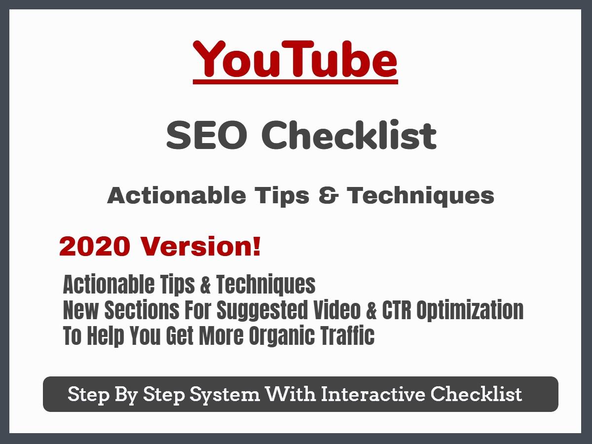 YouTube SEO Checklist Blog Post Image
