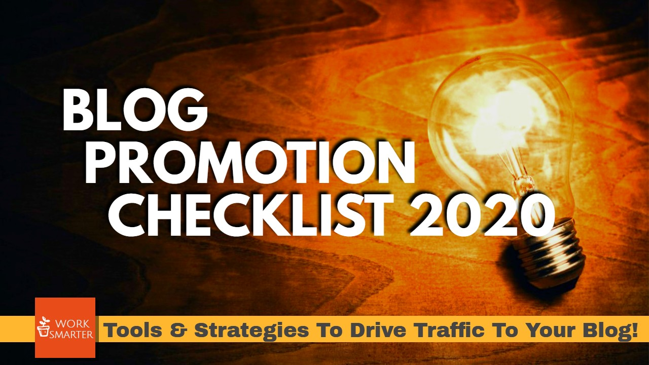 Blog Promotion Checklist 2020