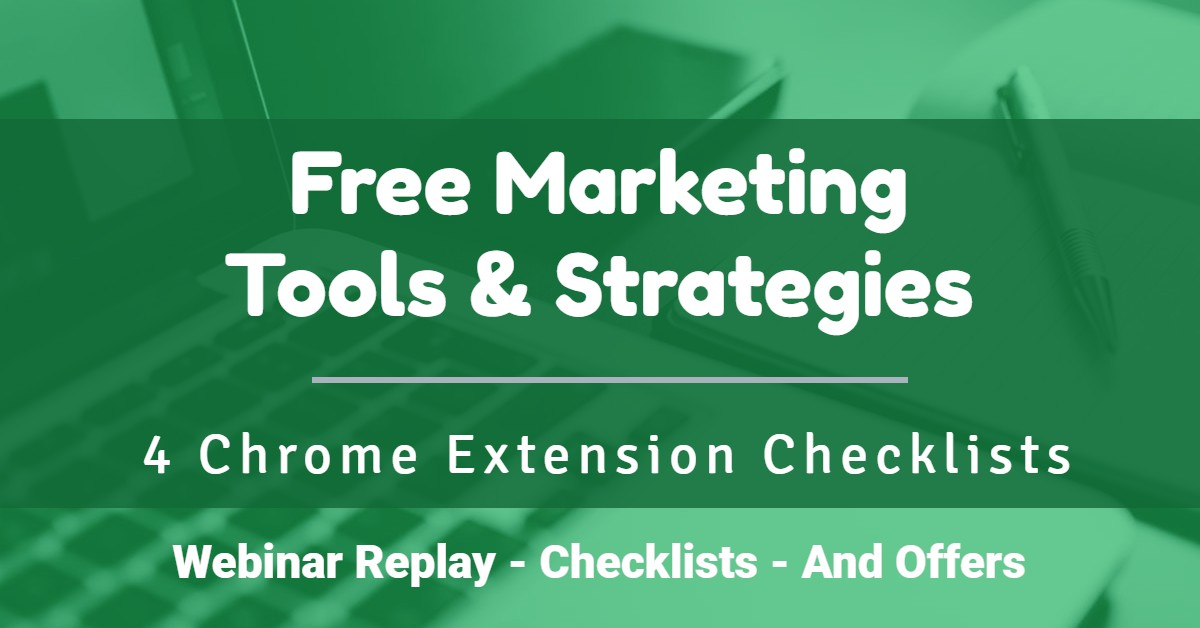 Free Marketing Tools, Strategies (And New Checklists)